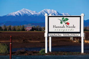 Hannah Nicole Vineyards road sign
